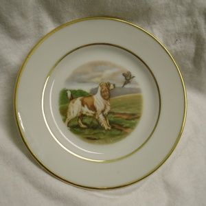 vintage Morgana Collection Bird Dog Plate